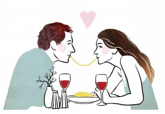 Redewendung Liebe geht durch den Magen